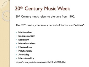 20th Century Music Week