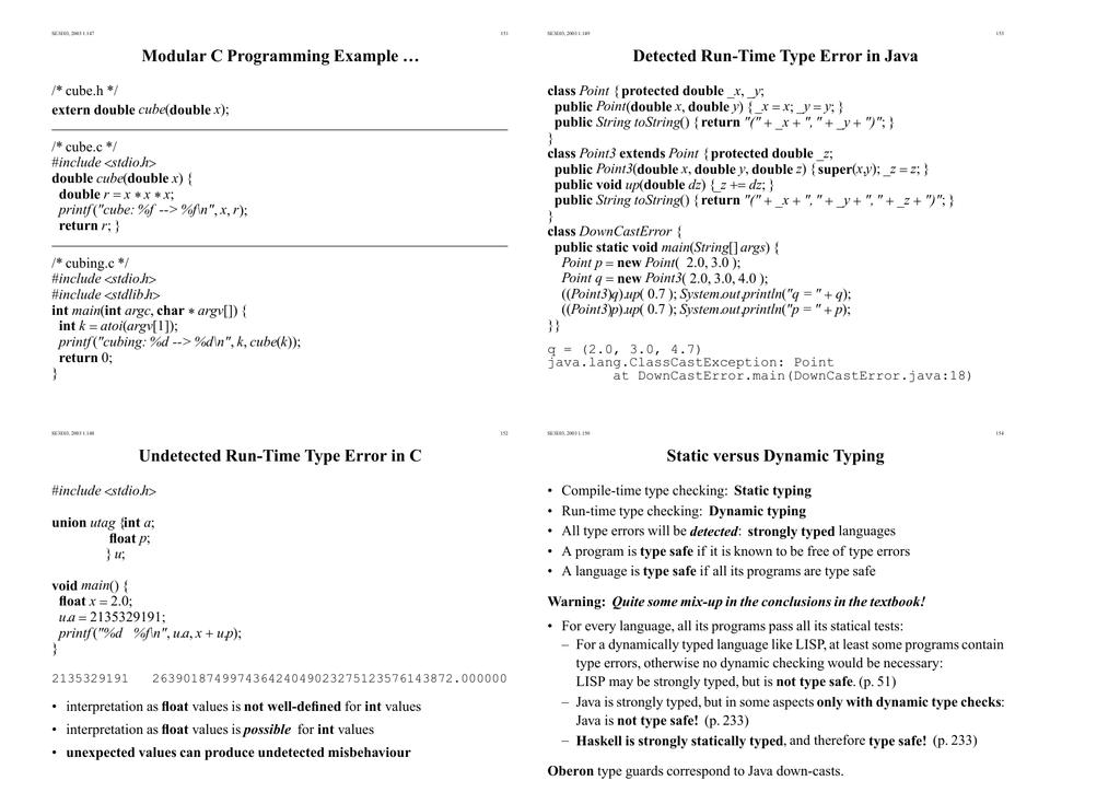 Undetected Run-Time Type Error in C Detected Run