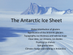 The Antarctic Ice Sheet