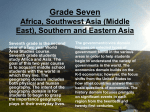 Grade Seven Africa, Southwest Asia (Middle East), Southern and