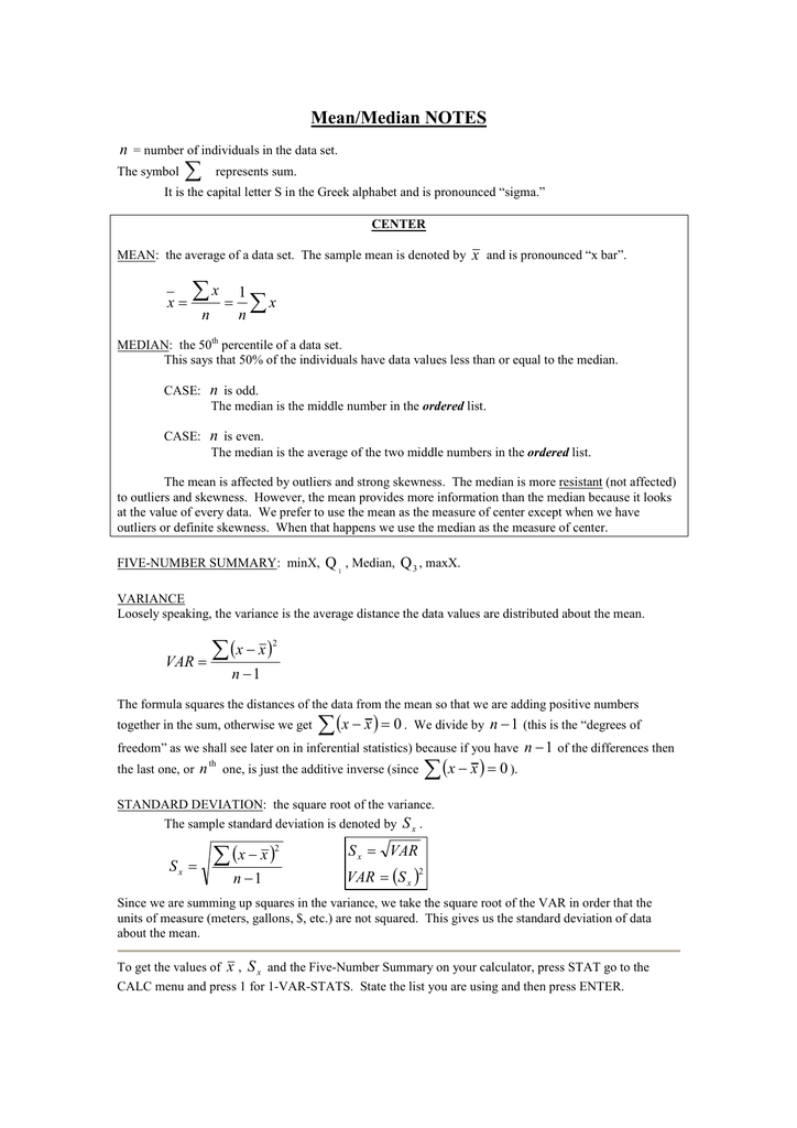 meanmedian notes