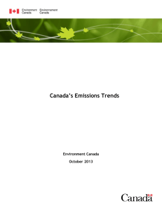 Canada`s Emissions Trends 2013