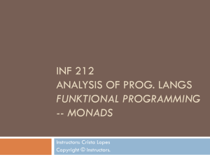 INF 141 Latent Semantic Analysis and Indexing