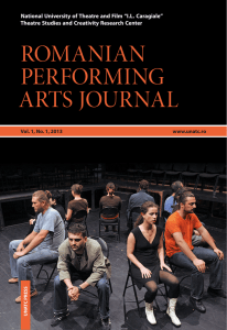 romanian performing arts journal