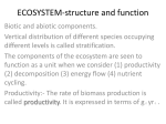 ECOSYSTEM-structure and function
