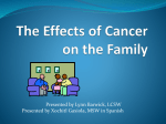 Effects of Cancer on the Family March 25,11