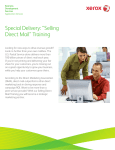Brochure - Xerox Selling Direct Mail Training
