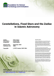 Constellations, Fixed Stars and the Zodiac in Islamic