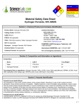 MSDS for Hydrogen Peroxide, 50%