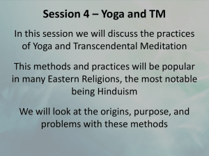 Session 4 – Yoga and TM