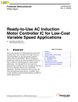 MC3PHAC: Ready-to-Use AC Induction Motor Controller IC for Low