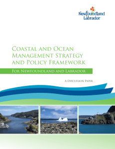 Coastal and Ocean Management Strategy and Policy Framework for