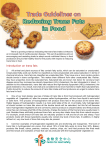 Trade Guidelines on Reducing Trans Fats in Food