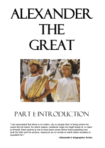 Alexander the Great – Introduction