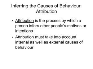 Inferring the Causes of Behaviour: Attribution