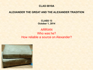 CLAS 0810A ALEXANDER THE GREAT AND