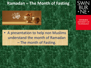 Ramadan – The Month of Fasting