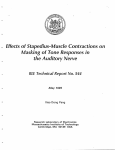 Effects of Stapedius-Muscle Contractions on Masking of Tone