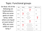 Topic: Functional groups