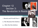WWI Notes-Russian Revolutions