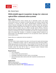 PDM-64QAM signal transmitter design for coherent optical fiber