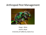 Arthropod Pest Management - MESA - University of California, Santa