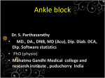 Ankle block MGMC