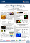 overview poster of CMMPE research activities