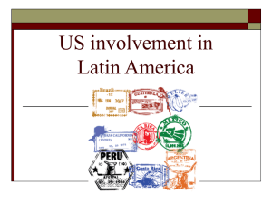 US involvement in Latin America