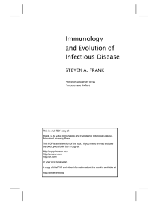 Immunology and Evolution of Infectious Disease