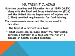 Nutrient Claims PowerPoint
