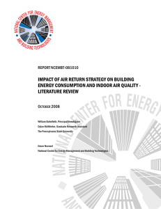 IMPACT OF AIR RETURN STRATEGY ON BUILDING ENERGY