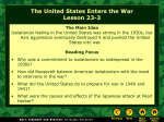 Lesson 23-3: The United States Enters the War