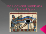The Gods and Goddesses of Ancient Eygpt