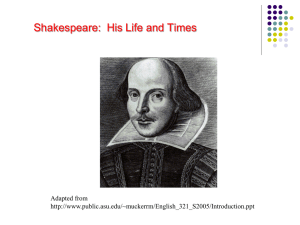 Shakespeare PowerPoint