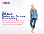 2016 U.S. Bank Student and Personal Finance Study