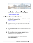 Java Runtime Environment Minor Update