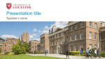 Widescreen examples - University of Leicester