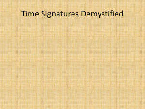Time Signatures Demystified
