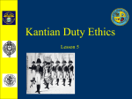 Lesson 5 Kantian Ethics