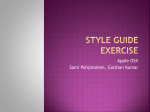 Style guide exercise