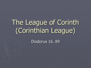 The League of Corinth (Corinthian League)
