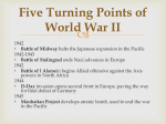 Five Turning Points of World War II