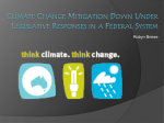 Climate change mitigation Down Under Legislative responses in a