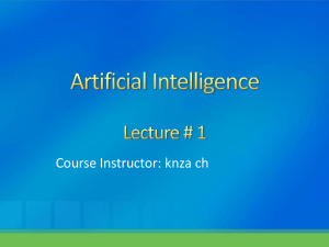 Artificial Intelligence Lecture # 1