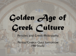 Greek Golden Age and Philosophy