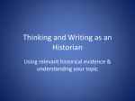 Thinking and Writing as an Historian