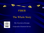 Fiber The Whole Story - University of Georgia