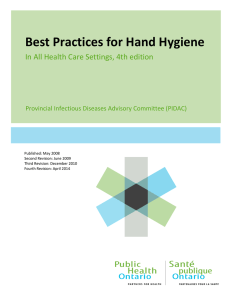 Best Practices for Hand Hygiene