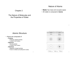 Nature of Atoms Atomic Structure